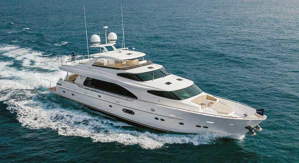 hull number one of the Horizon RP100 megayacht series