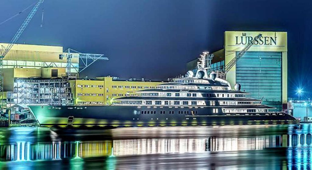 Azzam is among 10 Largest Megayacht Deliveries of the Decade