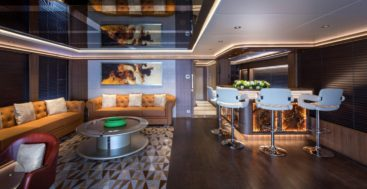 the Majesty 140 megayacht is new to the United States