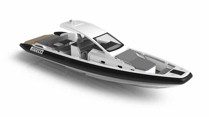 the Pirelli 42 RIB from Technorib is ideal for megayachts in need of a chase boat