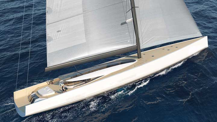 Philippe Briand's SY200 sailing superyacht concept