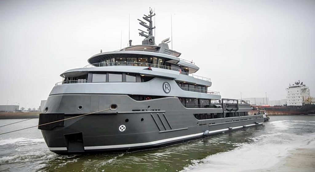 the launch of Project Ragnar at Icon Yachts, a massive adventure megayacht