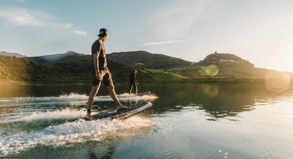 Radinn Freeride electric jetboards are fun megayacht watertoys