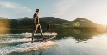 Radinn Freeride electric jetboards are fun megayacht watertoys