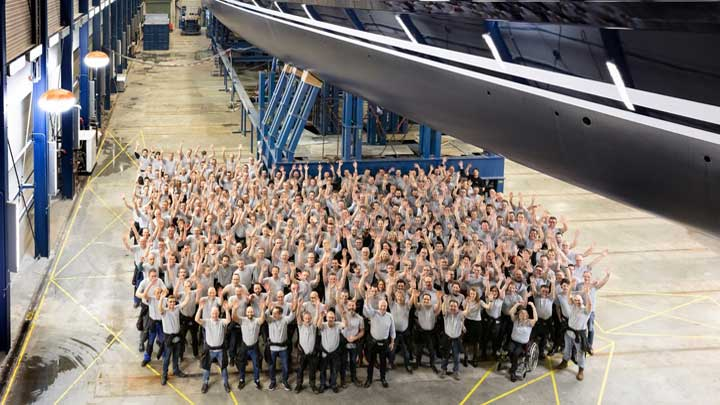 Royal Huisman's Project 400 a.k.a. the sailing superyacht Sea Eagle II