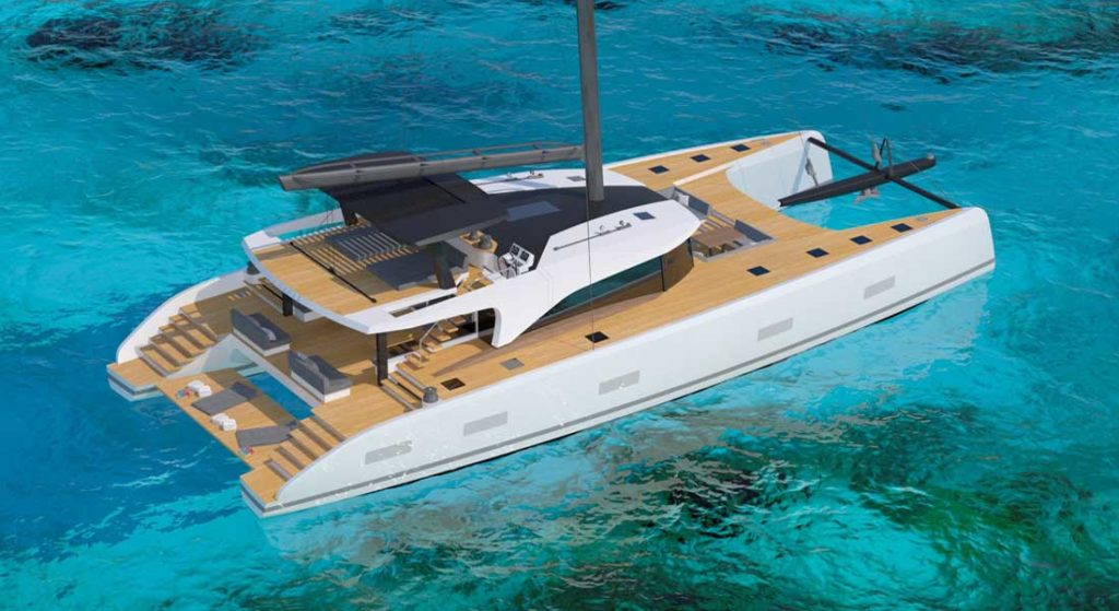 Southern Wind Shipyard's SWCAT90 sailing superyacht is a catamaran