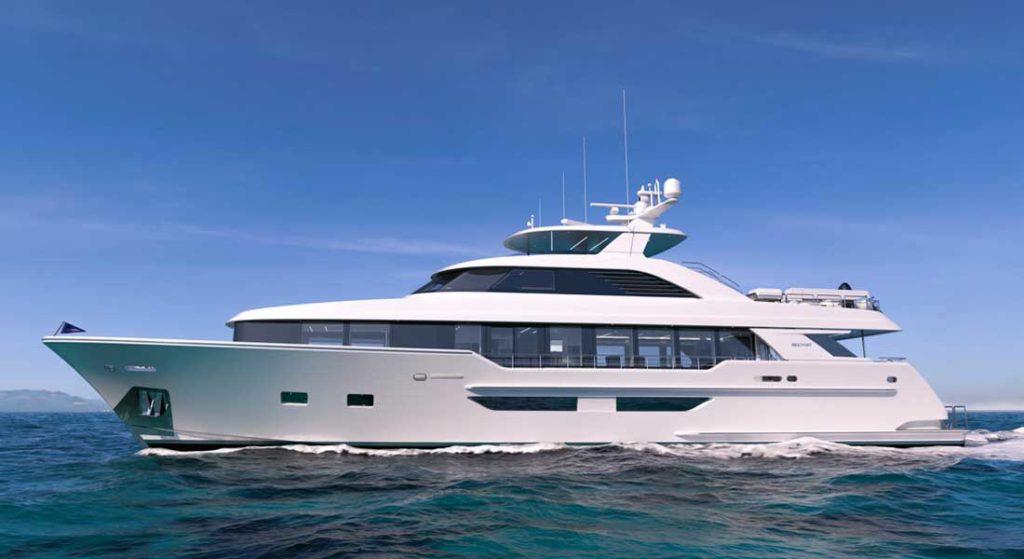 the new Westport 117 megayacht model