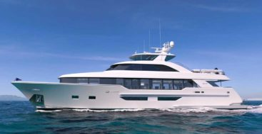 the new Westport 117 megayacht model