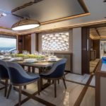 the Majesty 140 megayacht is new to the USA
