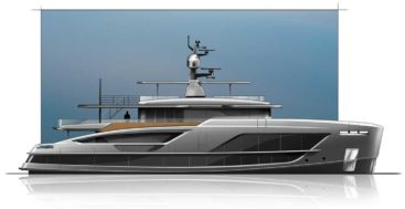 the latest Baglietto 38M V-Line megayacht is hull number 10235