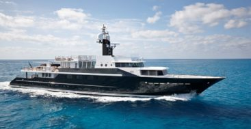 you can charter Highlander for Valentine's Day in St. Maarten for an unforgettable superyacht stay