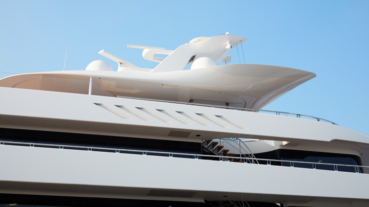 the Feadship Moonrise is the largest superyacht launched in The Netherlands according to waterline length