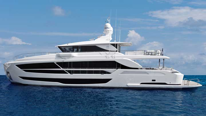 the Horizon FD102 is a megayacht attracting attention in multiple countries so far