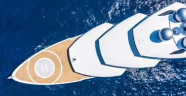 the super-sculptural superyacht Amadea