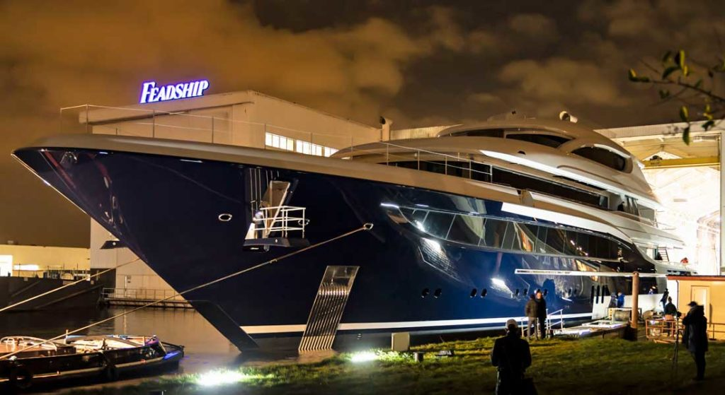 the megayacht Feadship Project 705 is being delivered by summer 2020
