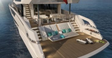 the Sunseeker Ocean Club Ninety is the new name for the 87 Yacht megayacht model