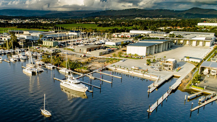 The Boat Works in Australia has opened a new superyacht service yard