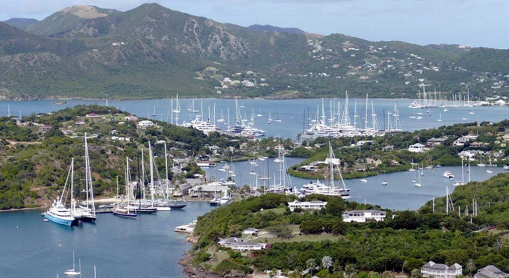 Antigua and Barbuda issued a no entry to yachts order due to COVID-19, so no megayachts can clear if they haven't already