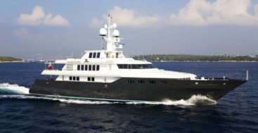 the Codecasa Cyan is one of the superyachts in the spirit of St. Patrick's Day
