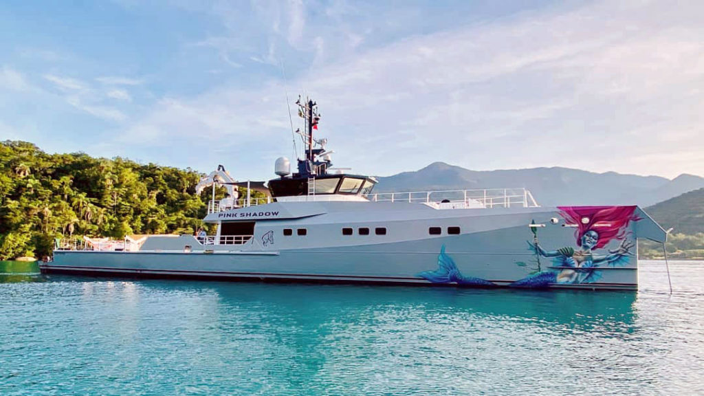Pink Shadow is the first Damen Yacht Support project for a sailing superyacht