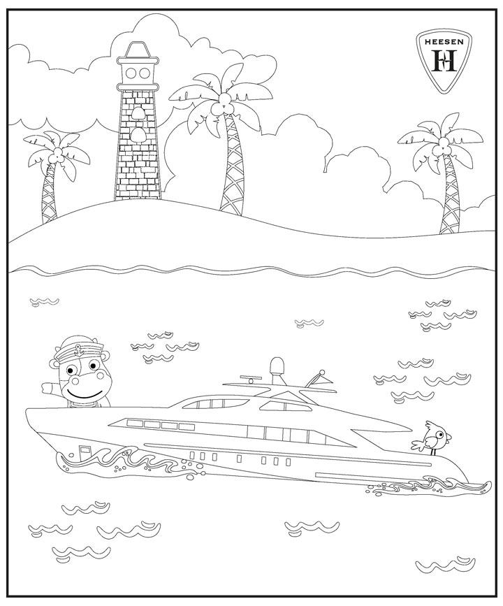 Heesen's superyacht sketches for kids