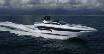 hull 1 of the Mangusta GranSport 33 megayacht series is for an American