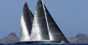 Svea and Topaz collided during the Superyacht Challenge Antigua 2020