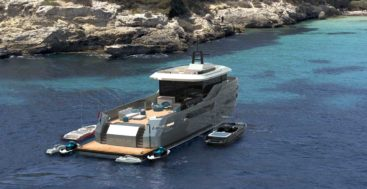 the Lynx Yachts Crossover 27 megayacht blends support yacht features with superyacht features