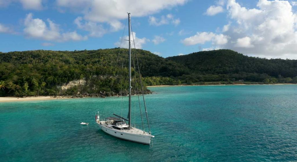 the sailing superyacht Champagne Hippy has a one-year circumnavigation charter available starting in 2022