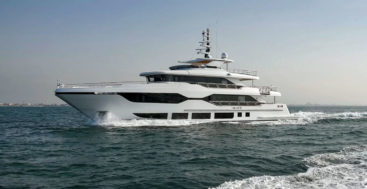 the Majesty 120 megayacht features nearly all electrically powered systems