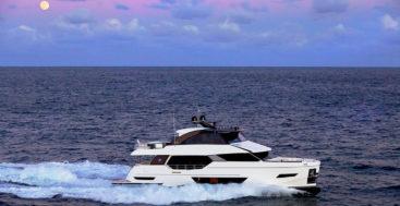 the Ocean Alexander 84R is a stylish entry level megayacht