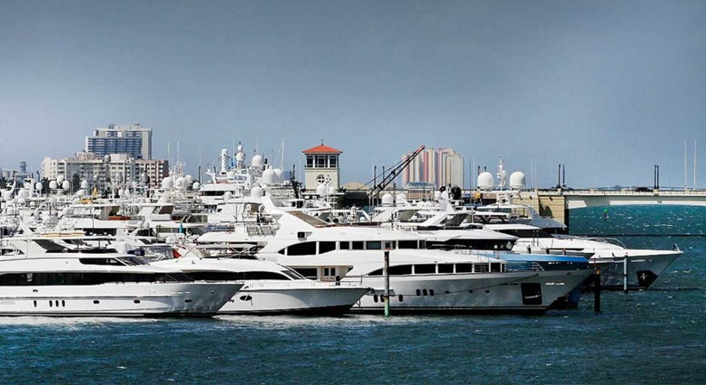 the Palm Beach show, which features superyachts