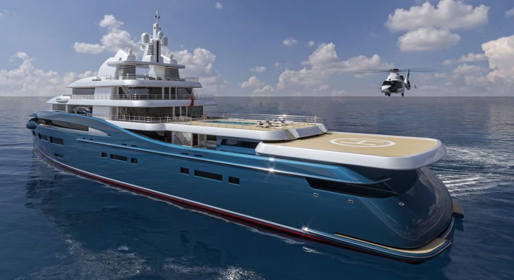 Sam Sorgiovanni's Frontier is a globetrotting superyacht with an ice-breaker hull