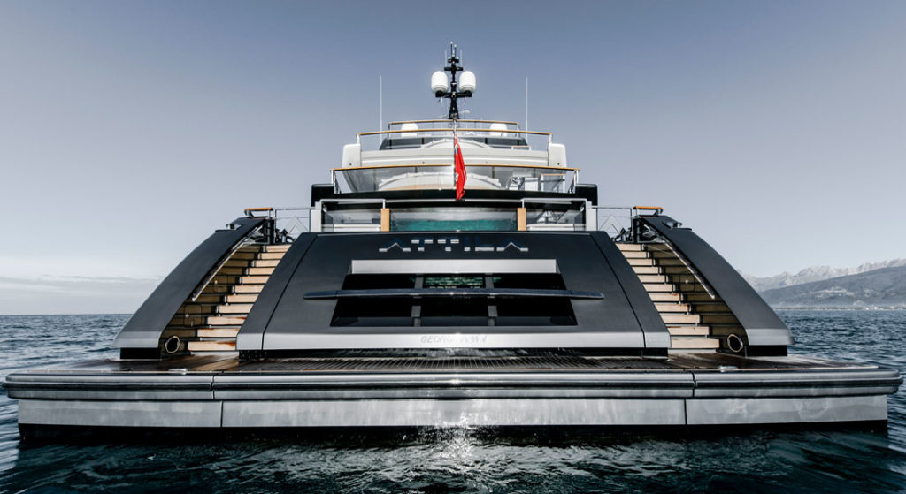the Sanlorenzo 64 Steel superyacht Attila belongs to a repeat customer for the yard