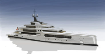 the C-72 superyacht concept comes from Wayne Parker Design