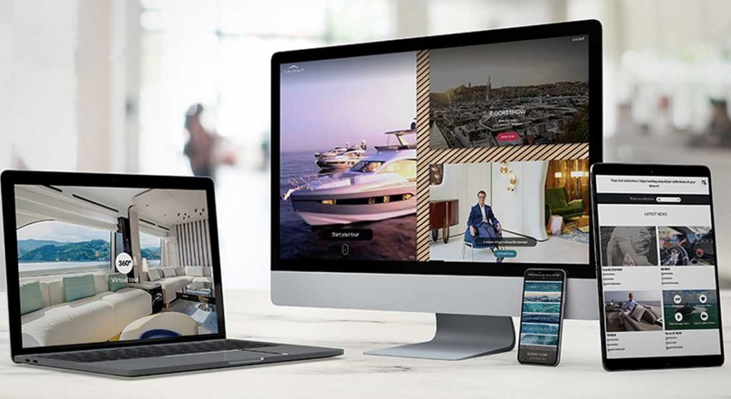 the Azimut Virtual Lounge is an online e-boat show and experience