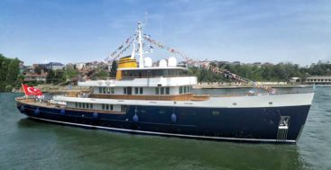 Blue II, a.k.a. Project Lombok, is a modern megayacht with throwback looks