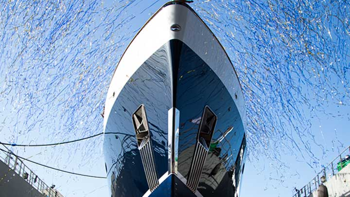 the superyacht Blue II celebrated her launch at Turquoise Yachts