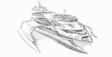 Gresham Yacht Design developed a SWASH yacht design for a megayacht customer