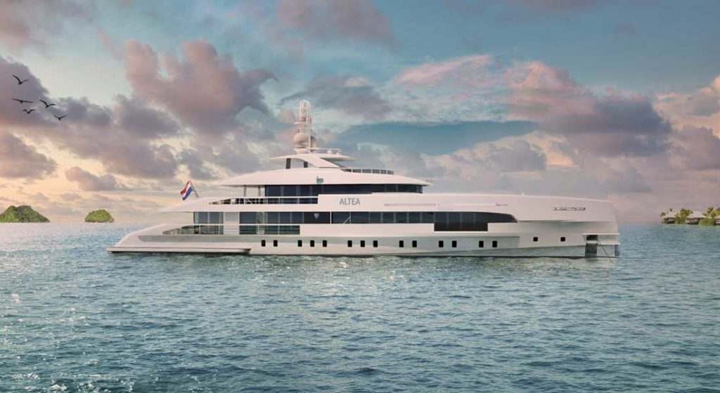 Project Altea is a megayacht in build at Heesen Yachts