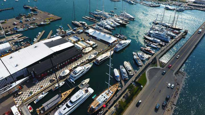 Newport Shipyard in Newport, Rhode Island welcomes megayachts and sailing superyachts every year