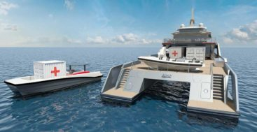 Project Echo HSV is a humanitarian support vessel for superyacht owners