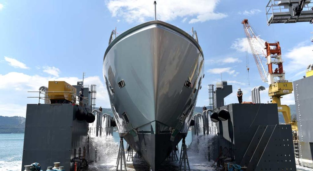 the 44 Alloy megayacht from Sanlorenzo launched in May 2020