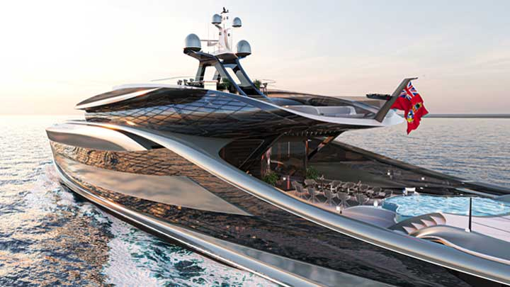 Vripack's Futura concept is an entirely fossil-fuel-free megayacht.