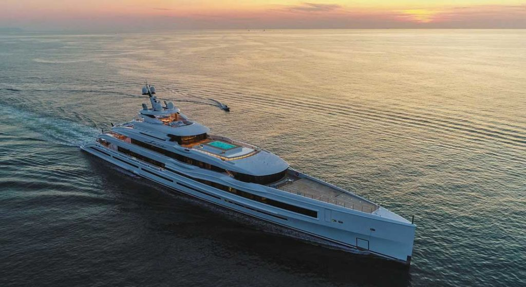 Lana is a superyacht exceeding 100 meters, built by Benetti