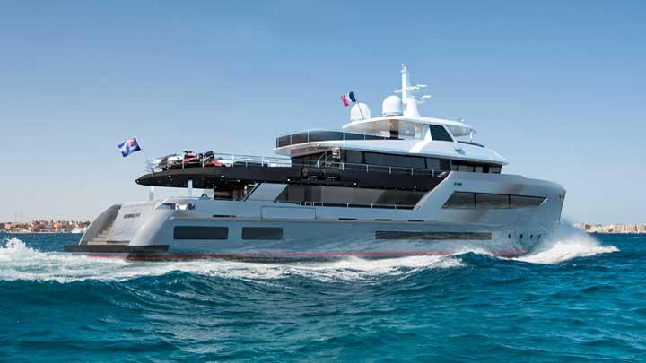 the Bering 145 megayacht is an ocean explorer