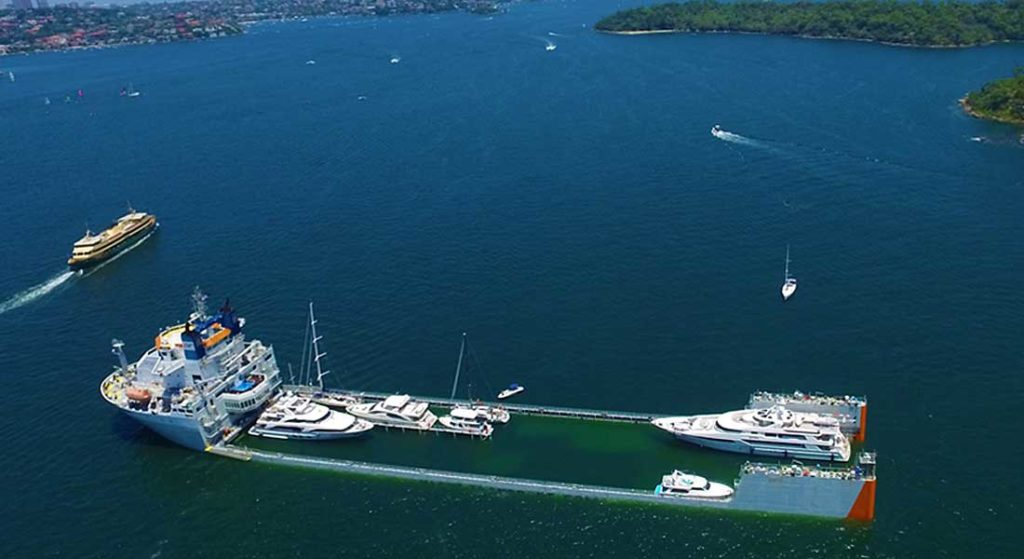 DYT Yacht Transport operates Super Servant 4, which carries superyachts and megayachts around the globe
