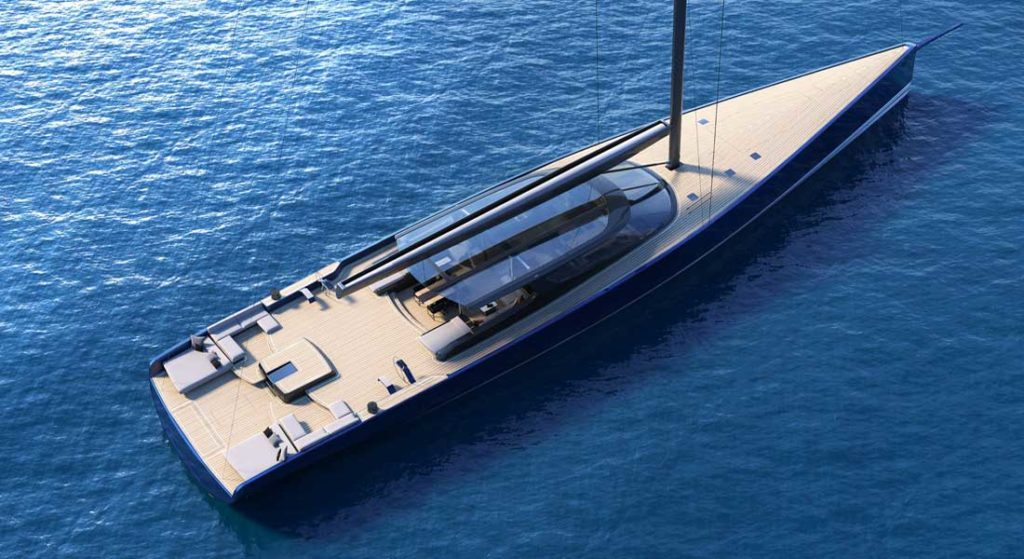 the RP42 sailing superyacht features naval architecture by Reichel/Pugh