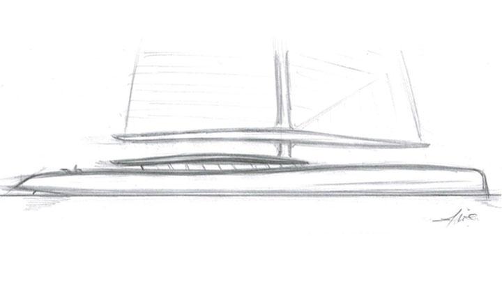 Ivan Erdevicki created the Logos 56 sailing superyacht concept tin 48 hours