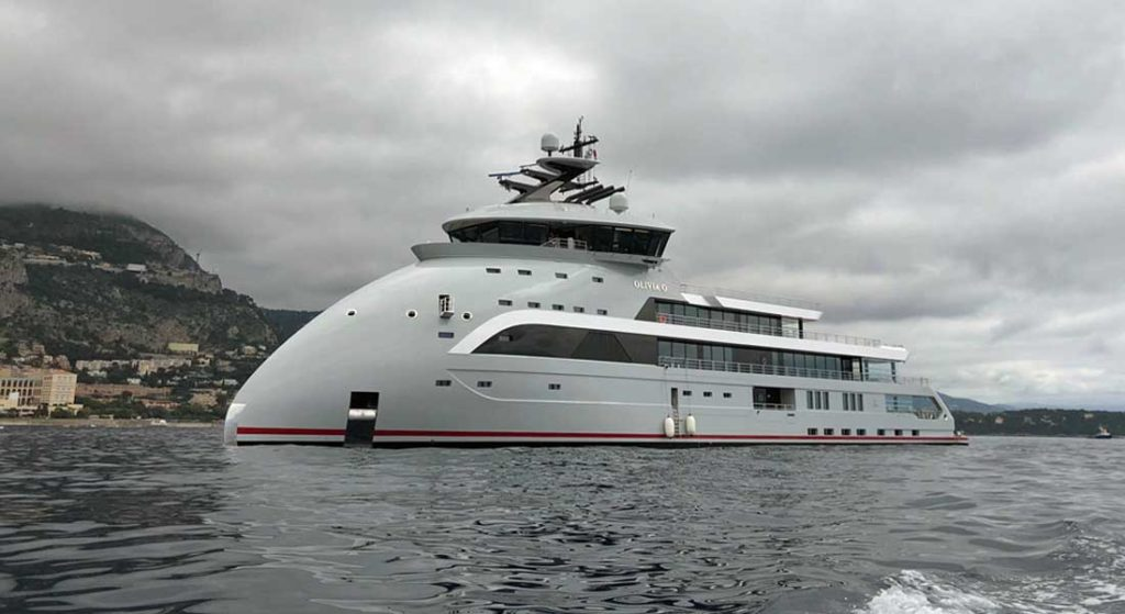 Olivia O is one of the largest megayachts delivered in 2020